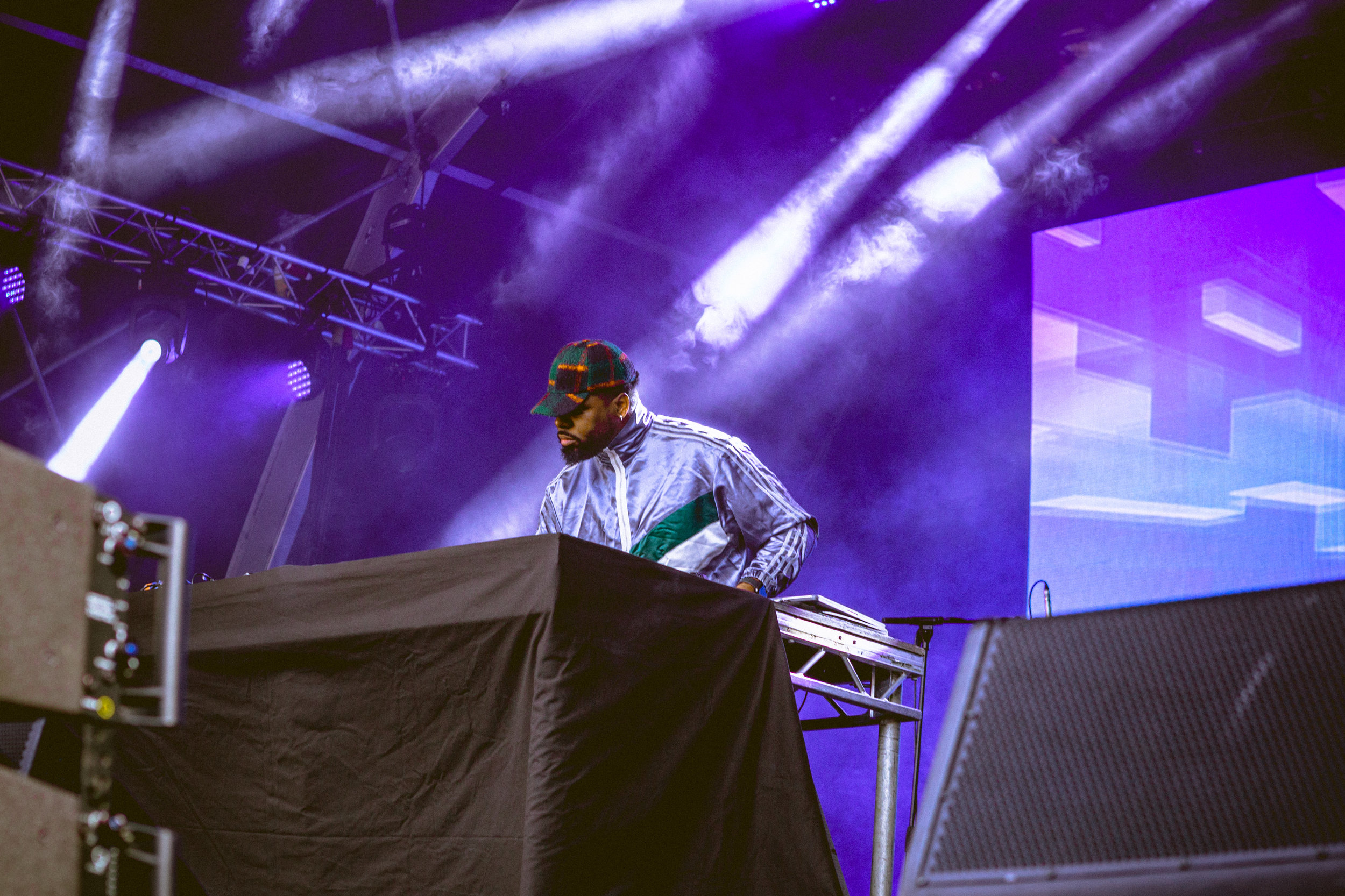Andre Power DJing at Somerset House: Summer Series with Soulection | Photography by Rianna Gayle