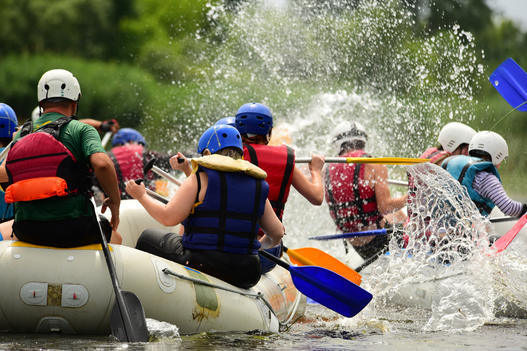 White Water Rafting - On the new river – world famous river rafting. Class VI River Runners.