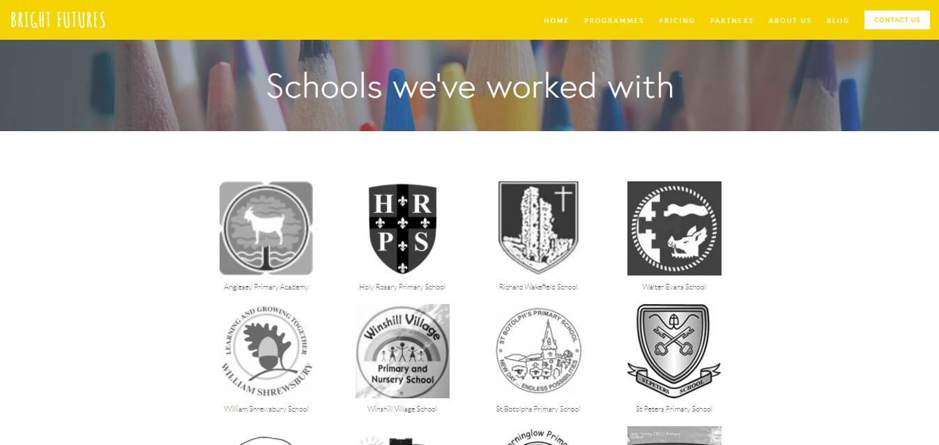 Bright Futures website by The Apple Yard