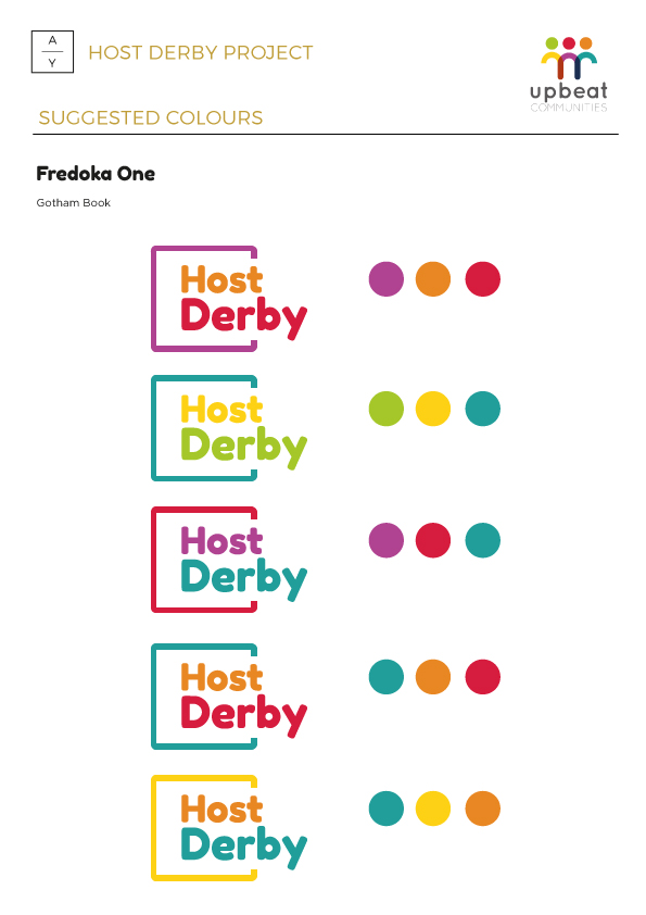 Host Derby branding project by The Apple Yard