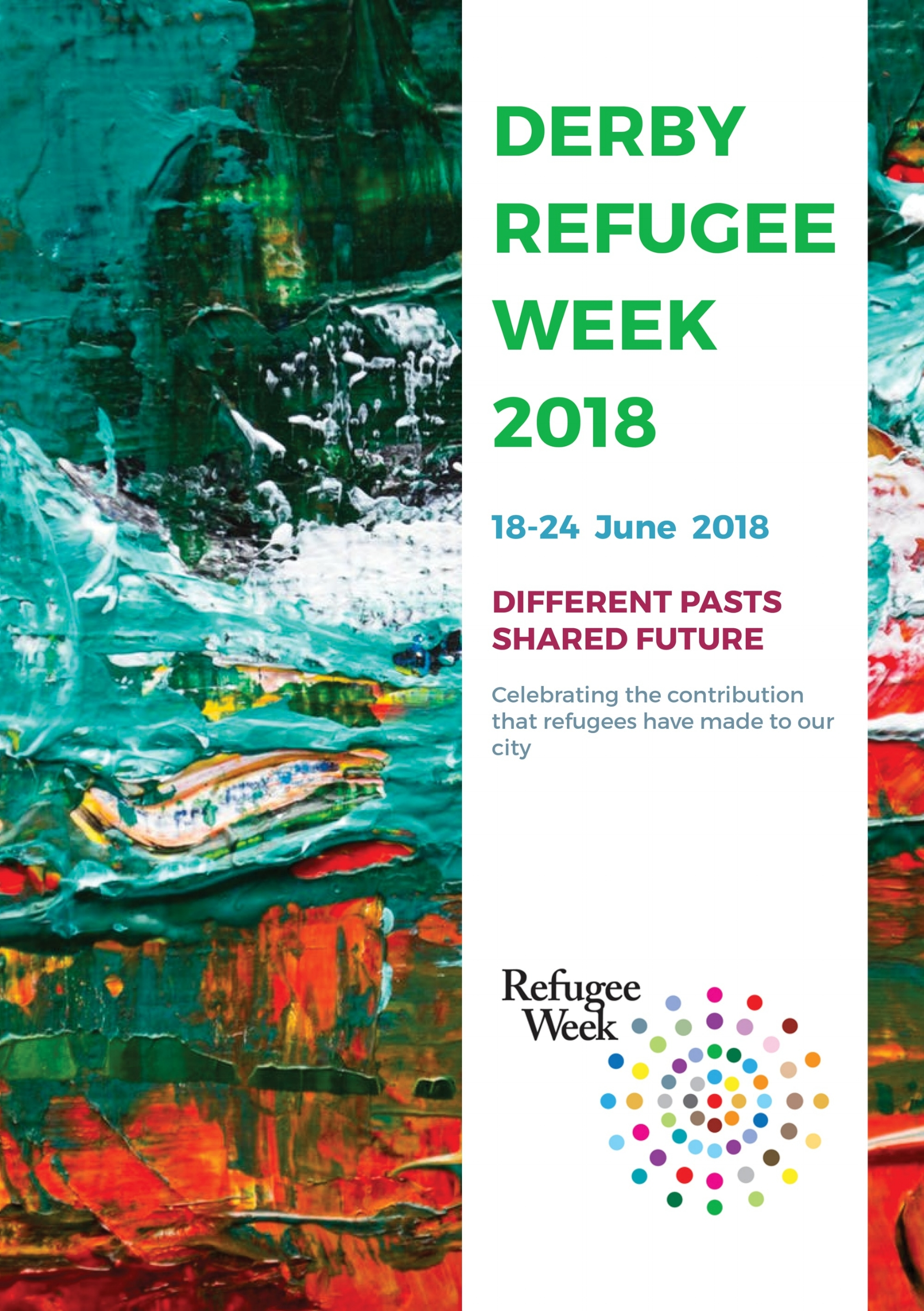 Front page of the Refugee Week booklet for Upbeat Communities