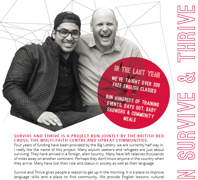 A snapshot of the newsletter featuring a cut-out image