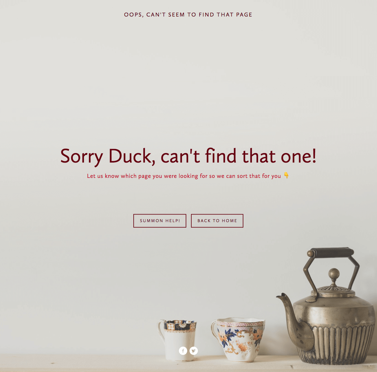 Small touches make a big difference - the 404-error page