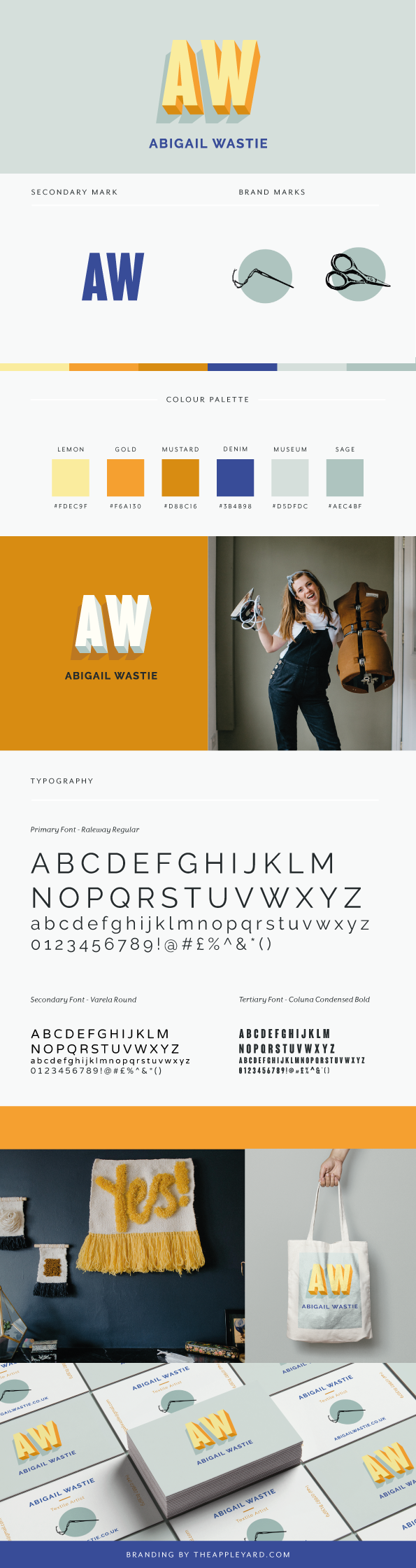 Abi's branding sheet for quick reference