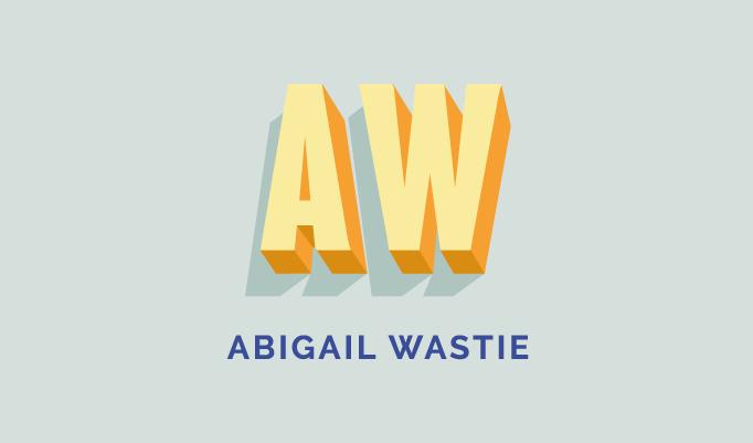 Abi's main logo as part of her branding