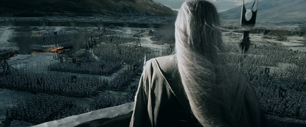 The white wizard Saruman has assembled an army of mutilated Uruk-Hai ten thousand strong to destroy the Kingdom of Rohan
