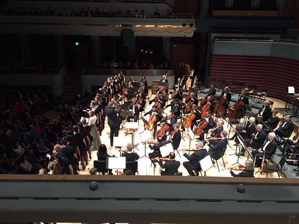 """Cantare performing Behold the Night with the Calgary Philharmonic Orchestra  at """"Rune's Christmas"""""""