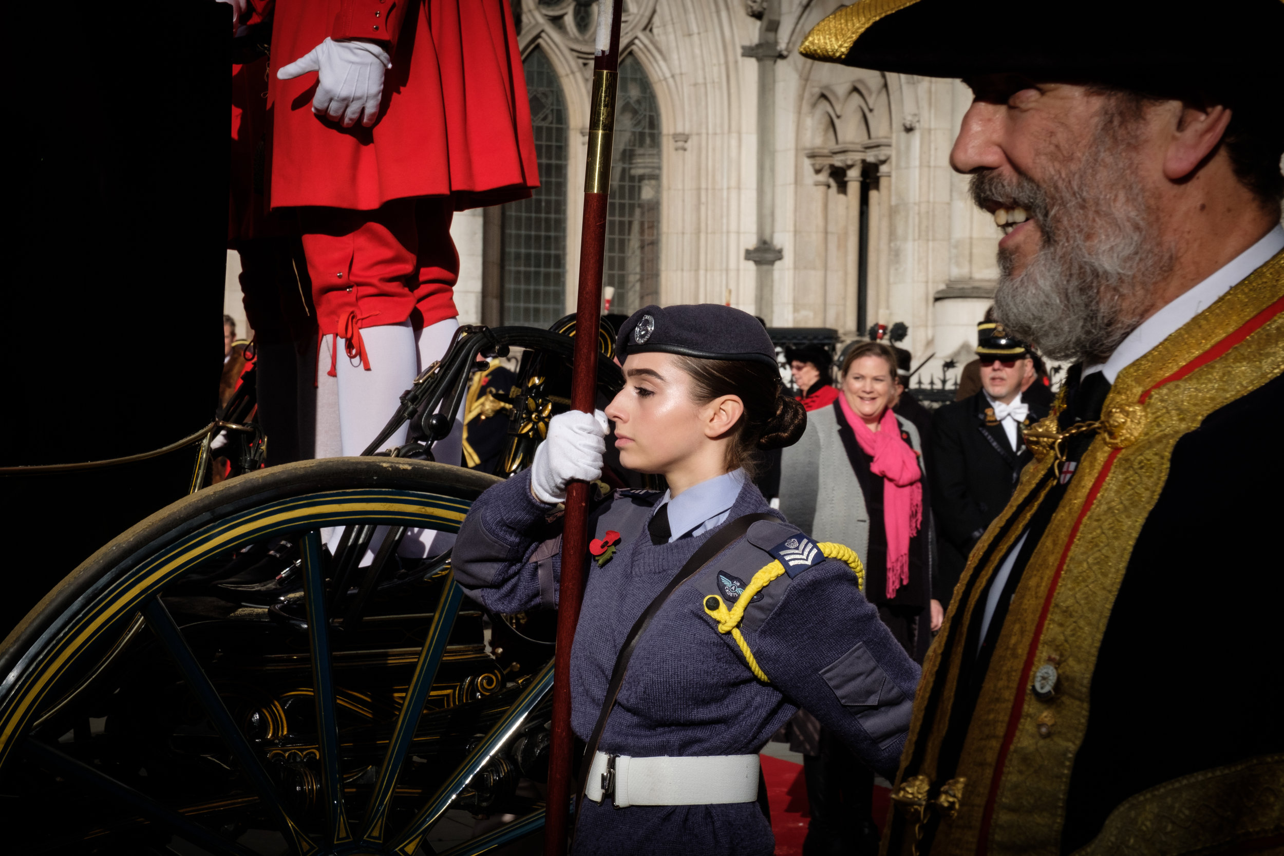 Lord Mayor Show in central London, on the 10th November 2018, with military parades for the 691st Lord Mayor of London Peter Estlin.