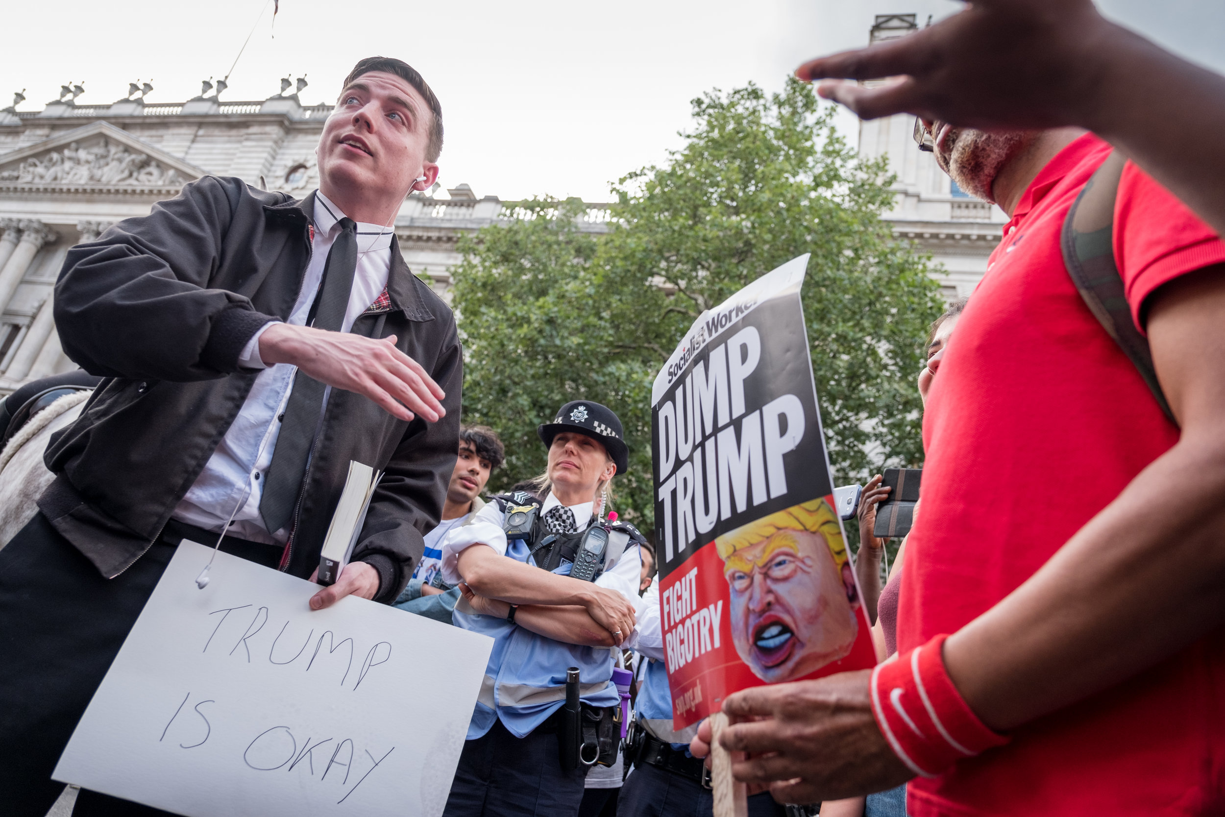 Trump Protest in London on the 13th July 2018 saw about 250`000 people attending at the march.