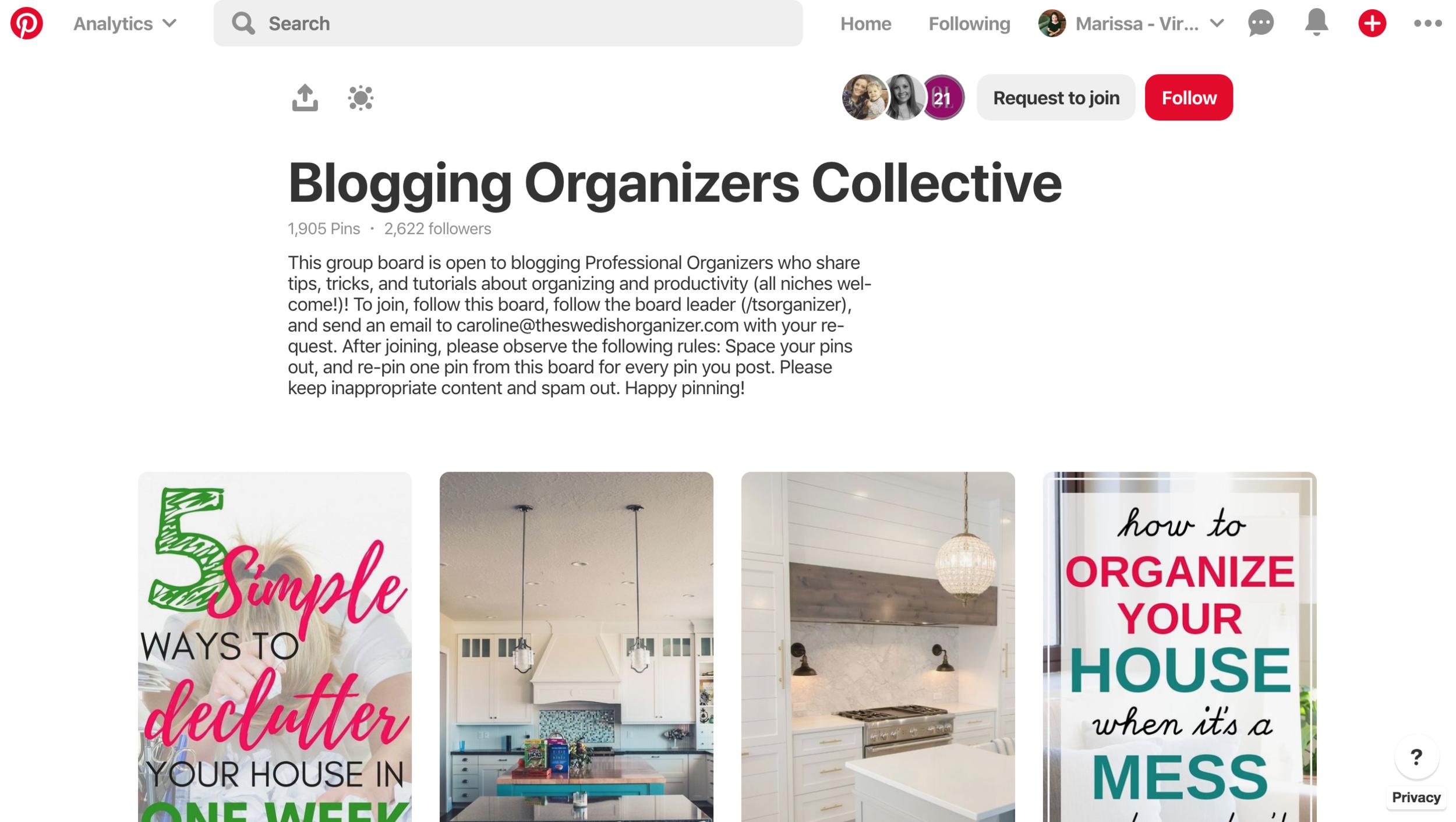 Blogging Organizers Collective - #virtualassistant #pinterest #pinterestva #groupboard