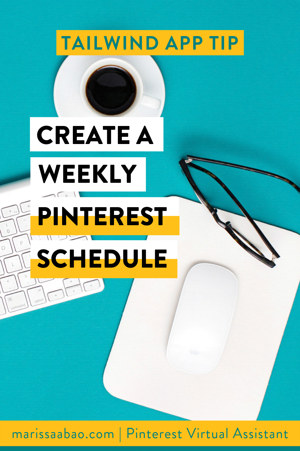 Tailwind App Tip: Create a Weekly Pinterest Schedule - #tailwindapp #virtualassistant #pinterestvirtualasistant #pinterestva #pinterestmarketing