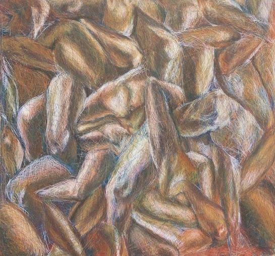 'Limbs' Crayon on masonite. 36.5 x 35 inches (2010).jpg