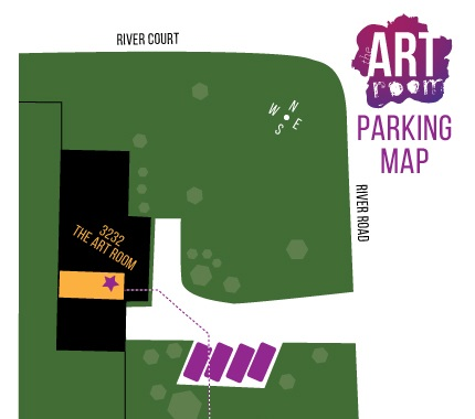 You may park in driveway spaces and along both River Court and River Road