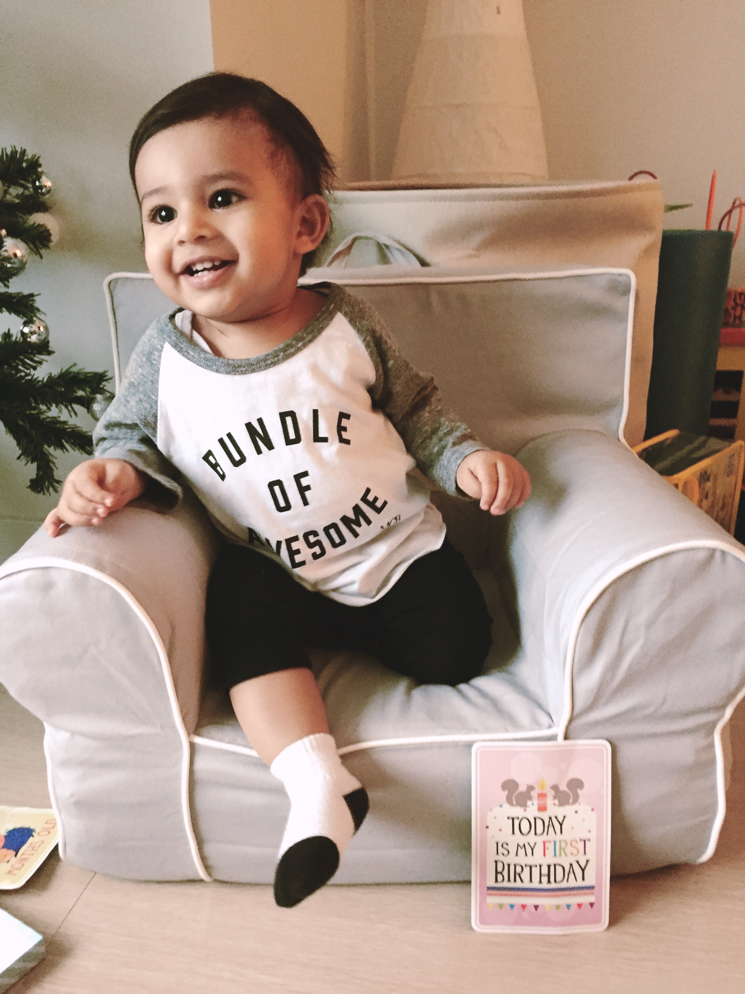 My Cheeky Baby - Two words to describe this brand, trendy and fabulous!  Located in Vancouver, BC, My Cheeky Baby's line of apparel is so fun and stylish.  I have a couple pieces from their line and my absolute favorite is a basic heather grey tee with powerful words that I raise my boy by,