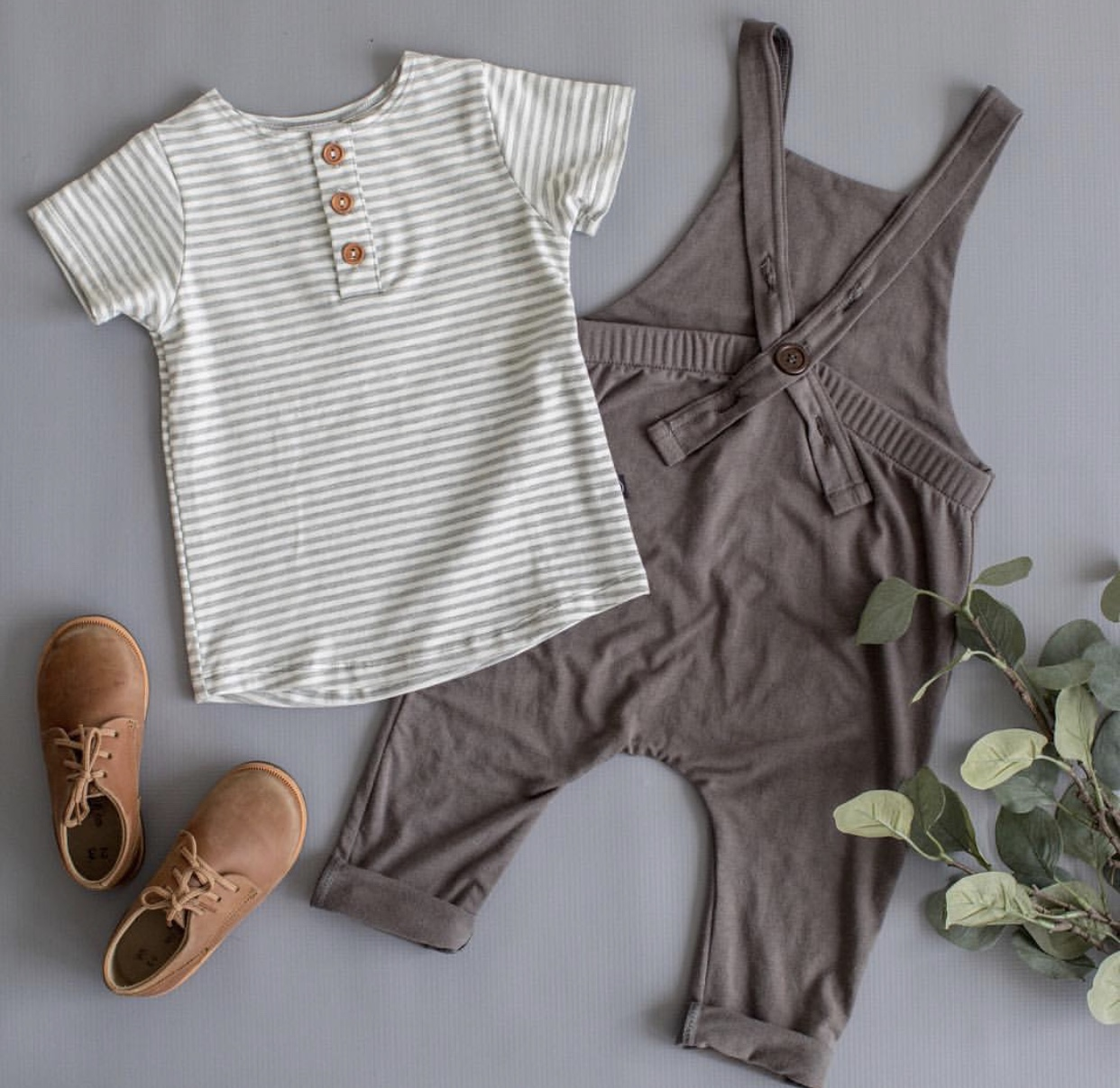 - 1. Haven Kids ClothingHaven Kids clothing is one of my new favorite local shops and their spring line is so darn adorable. The neutral and minimal color scheme is just up my ally. My favorite spring item that I can't wait to get Q into are the overalls. The drop crotch style can be perfectly paired with a long or short sleeve tee for the cooler spring days, and will be an awesome transition to those hot summer days where he won't need to wear any shirt underneath. They have a 3 button holes allowing for just the right fit when adjusting. This is sure to be on repeat for us.Shop Haven Kids