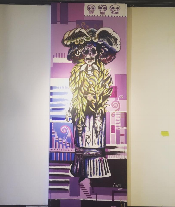 Catrina Concept Mural at Day of the dead Art Exhibition 2017