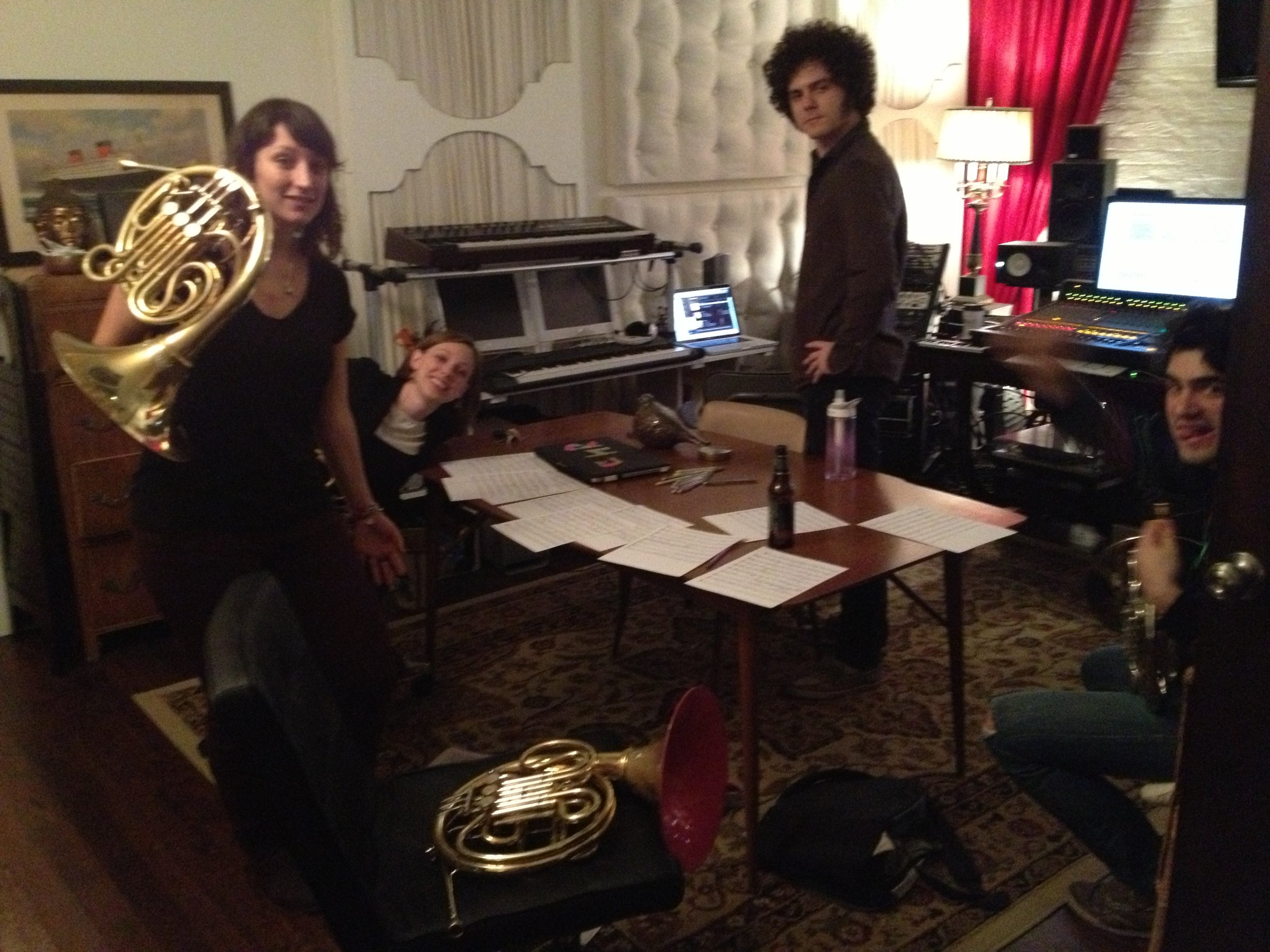 in the studio with French Horn Rebellion .JPG