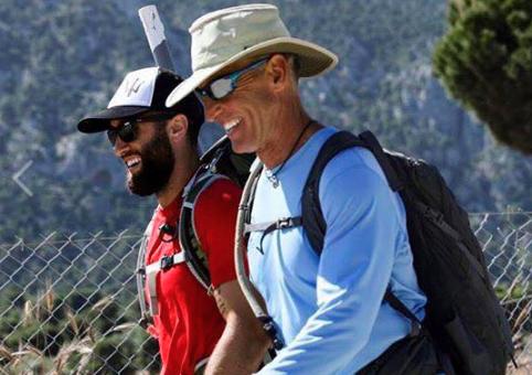 Lance Cummings and Faris Amra. Greece May 2017. Sparta 300 Epic Adventure