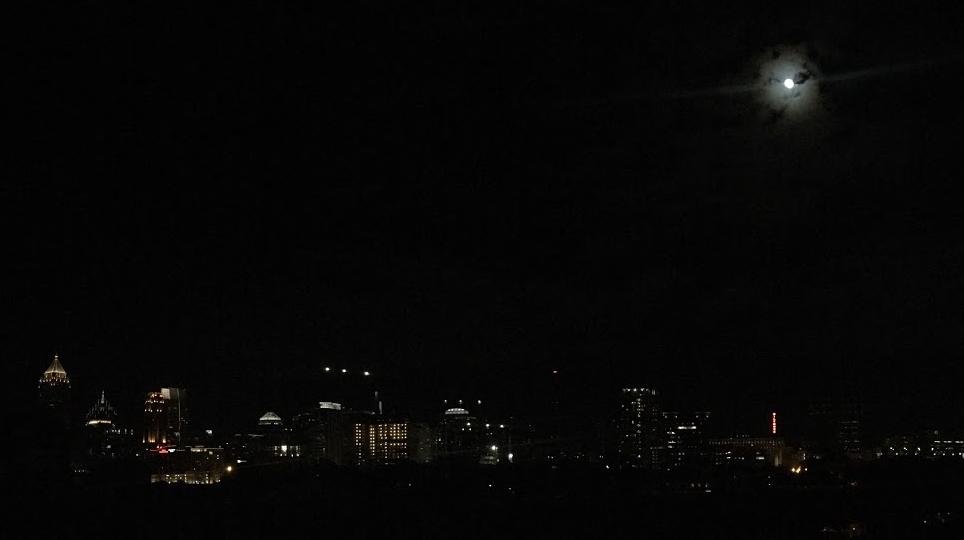 Midtown Atlanta by night, taken by self.