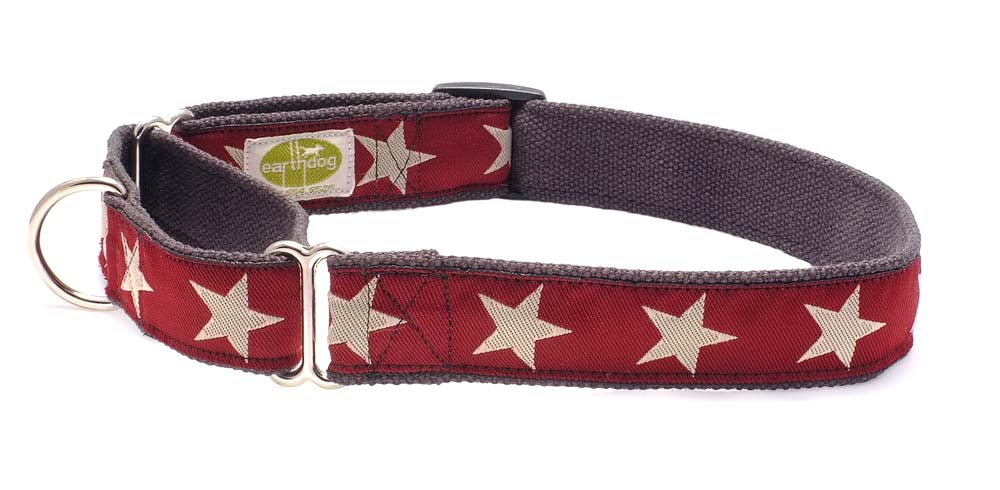 Earth Dog collars  are a long-time favorite. They are made with hemp so they do not hold odor like other collars. Hemp is also a soft but strong fabric and comfortable for dogs.