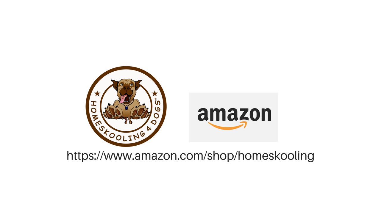 Shop the Homeskooling 4 Dogs amazon.com page for our favorite products.