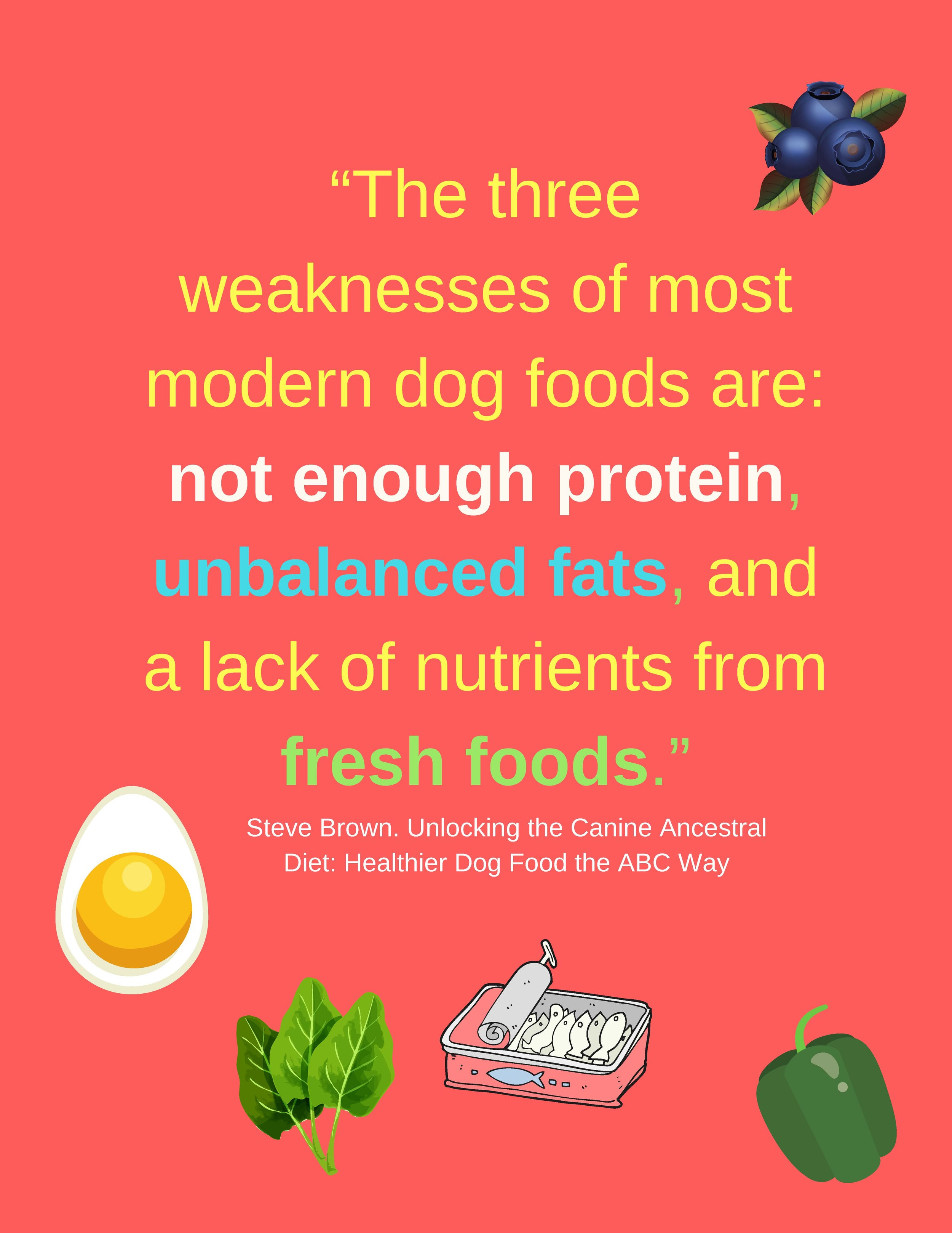 """Dogs, like people, need some fresh whole foods."".jpg"