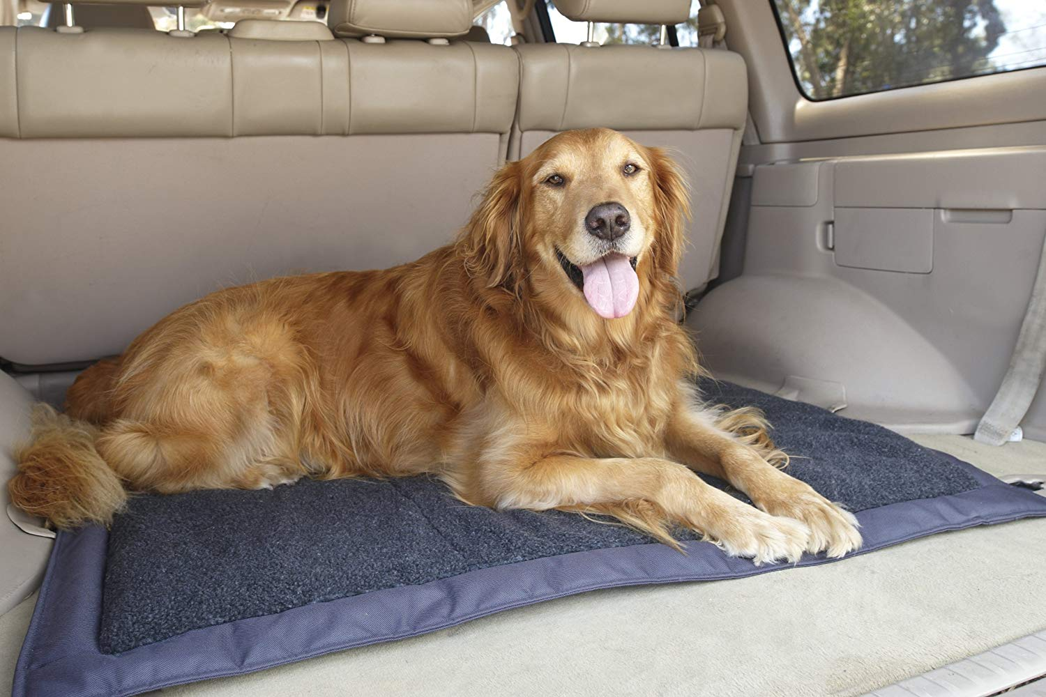 Outdoors Self Inflating Fleece Top Cover Travel Dog Bed