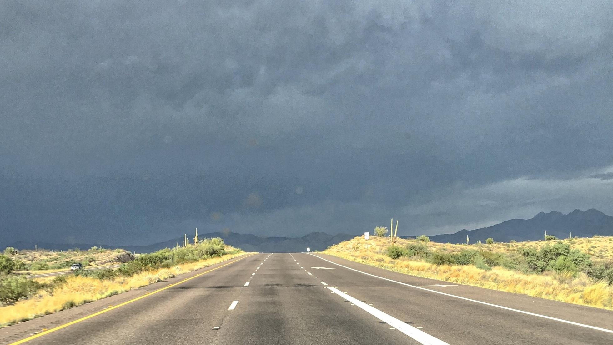 Monsoon storm.