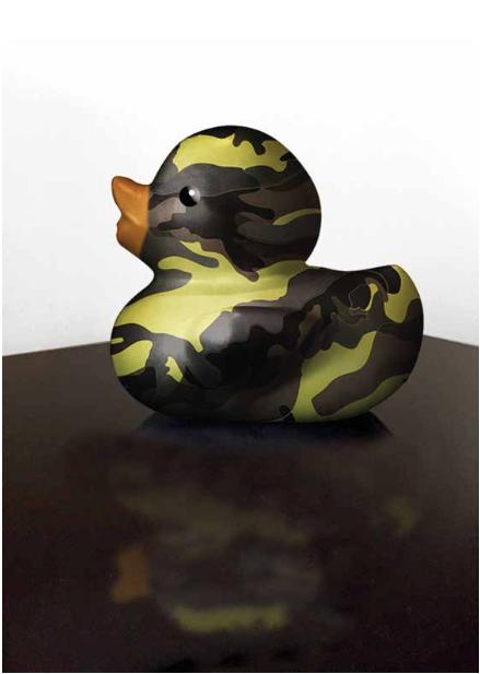 Camuo Duck.Polvo de Marmol y Metal | Serie Game Over | Medidas 0.45x0.45cms