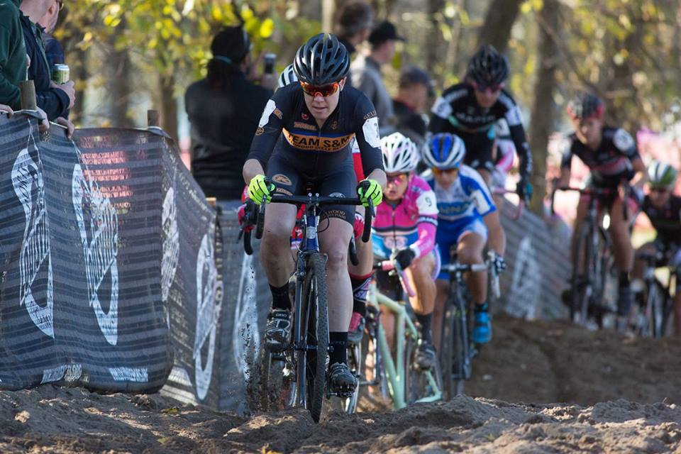 Coach Beth Ann Orton competing in cyclocross
