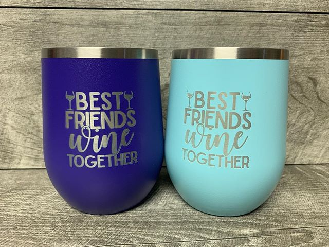 More tumblers from this weekend! Who's your favorite person to wine with? . . #winetumbler #bestfriendswinetogether #giftforfriend #wineoclock #polarcamel #madeinNH #NHmade #shoplocal #shopsmall