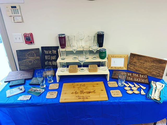 Come stop by the craft fair from 2pm-6pm at @gatewayscommunityservices I'll be here until 3:30! . . #craftfair #nashuanh #madeinNH #shopsmall #woodsigns #laserengraving #mothersday #mothersdayshopping #gifts