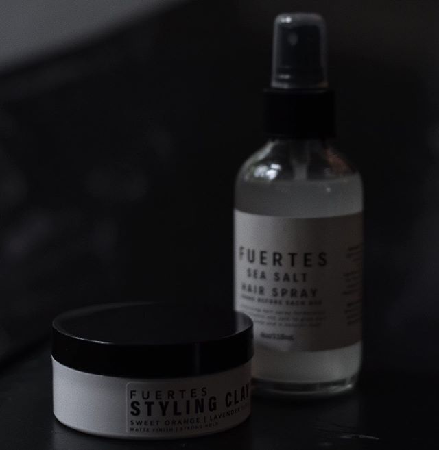 Find these at @fleekfellows  The Fuertes styling clay and sea salt spray.  All natural ingredients that will nourish and style your hair like no other product.  #charlotte #newyork #losangeles #paris #london #milan #hairstylist #hairartist