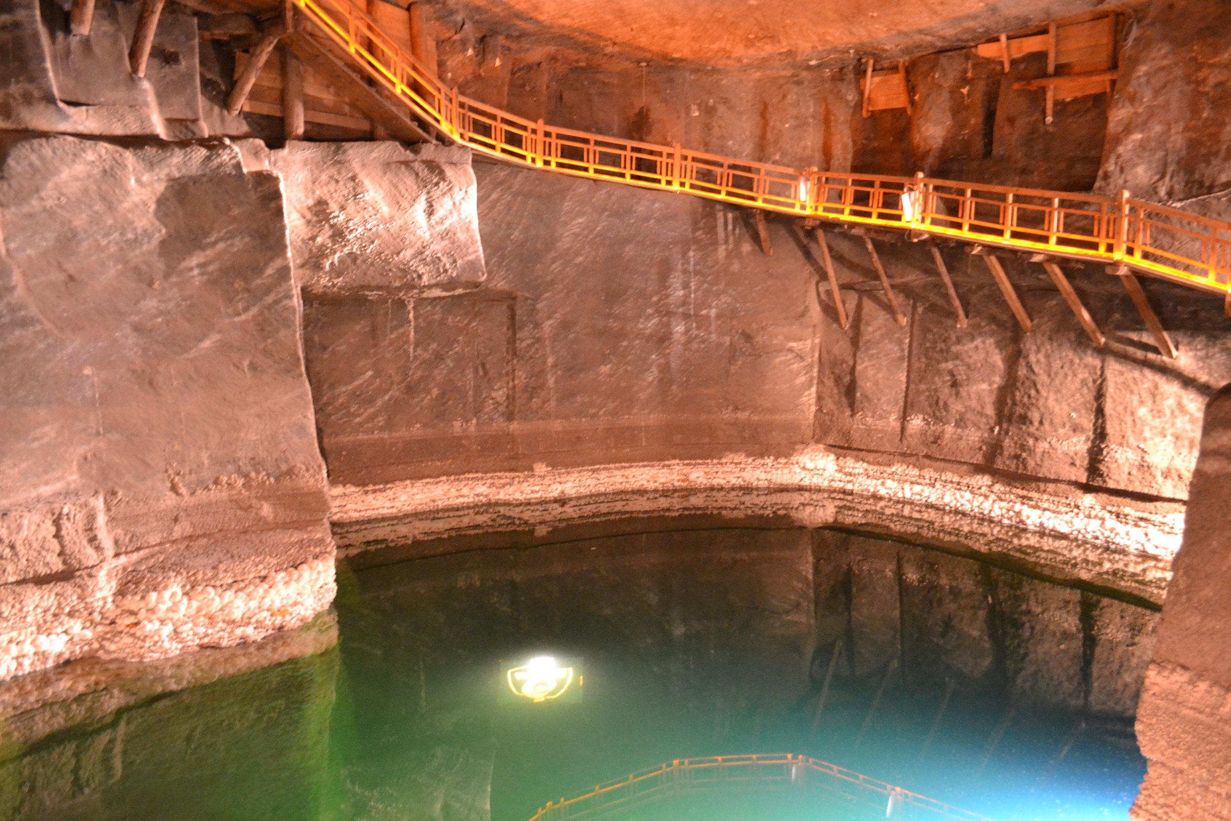 Wieliczka salt mine water