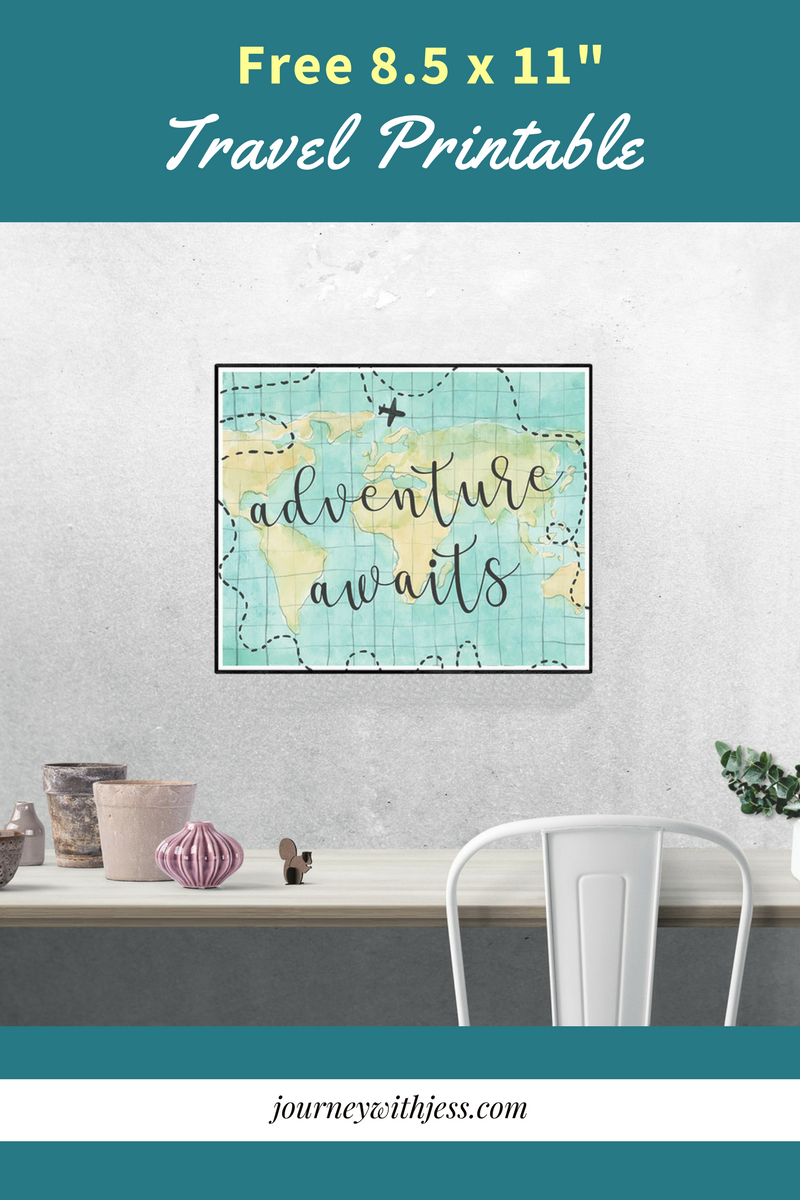 Free 8 5 X 11 Printable Adventure Awaits Journey With Jess Inspiration For Your Creative Side