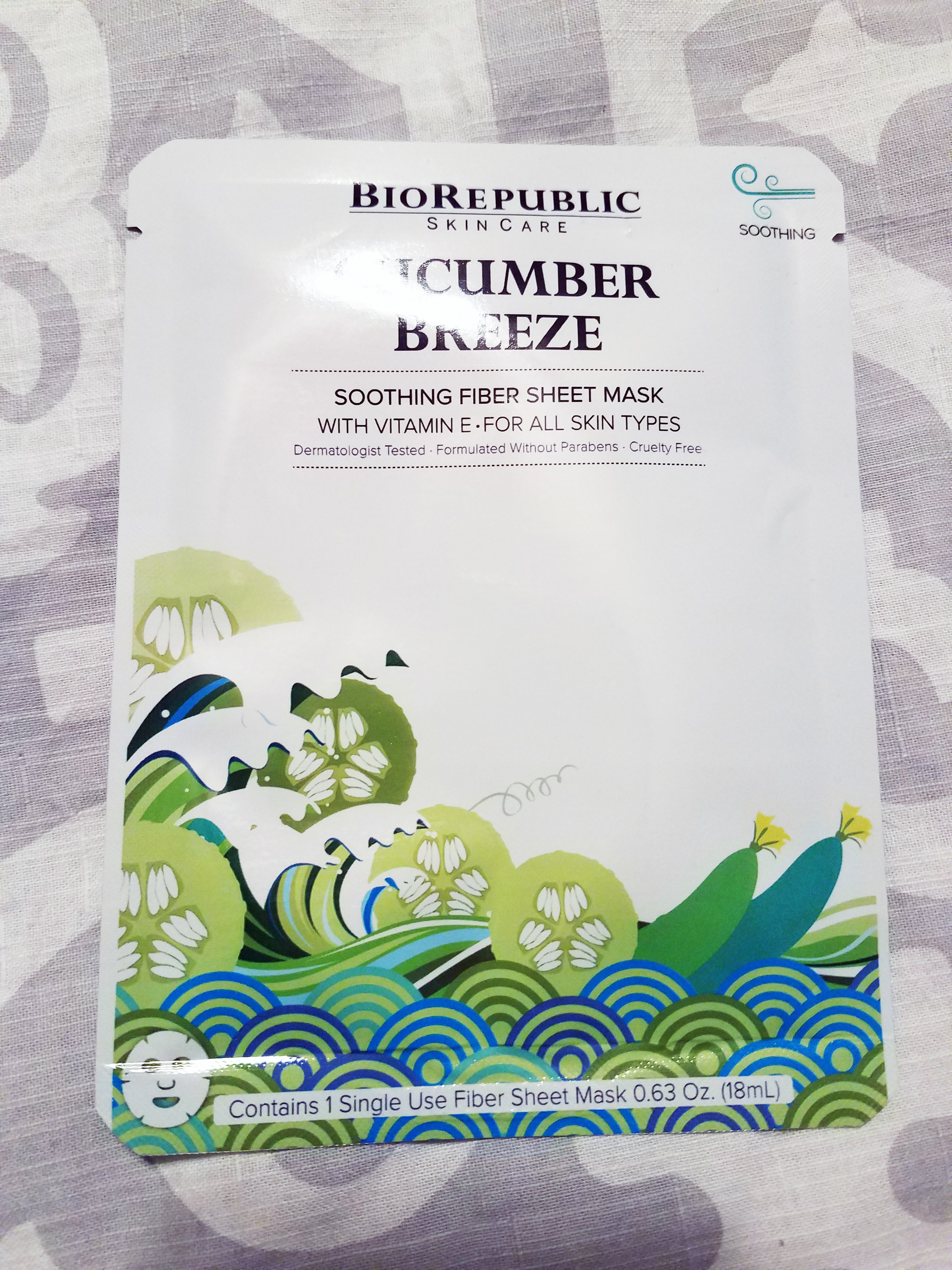 BioRepublic SkinCare Sheet Mask Duo - Cucmuber Breeze
