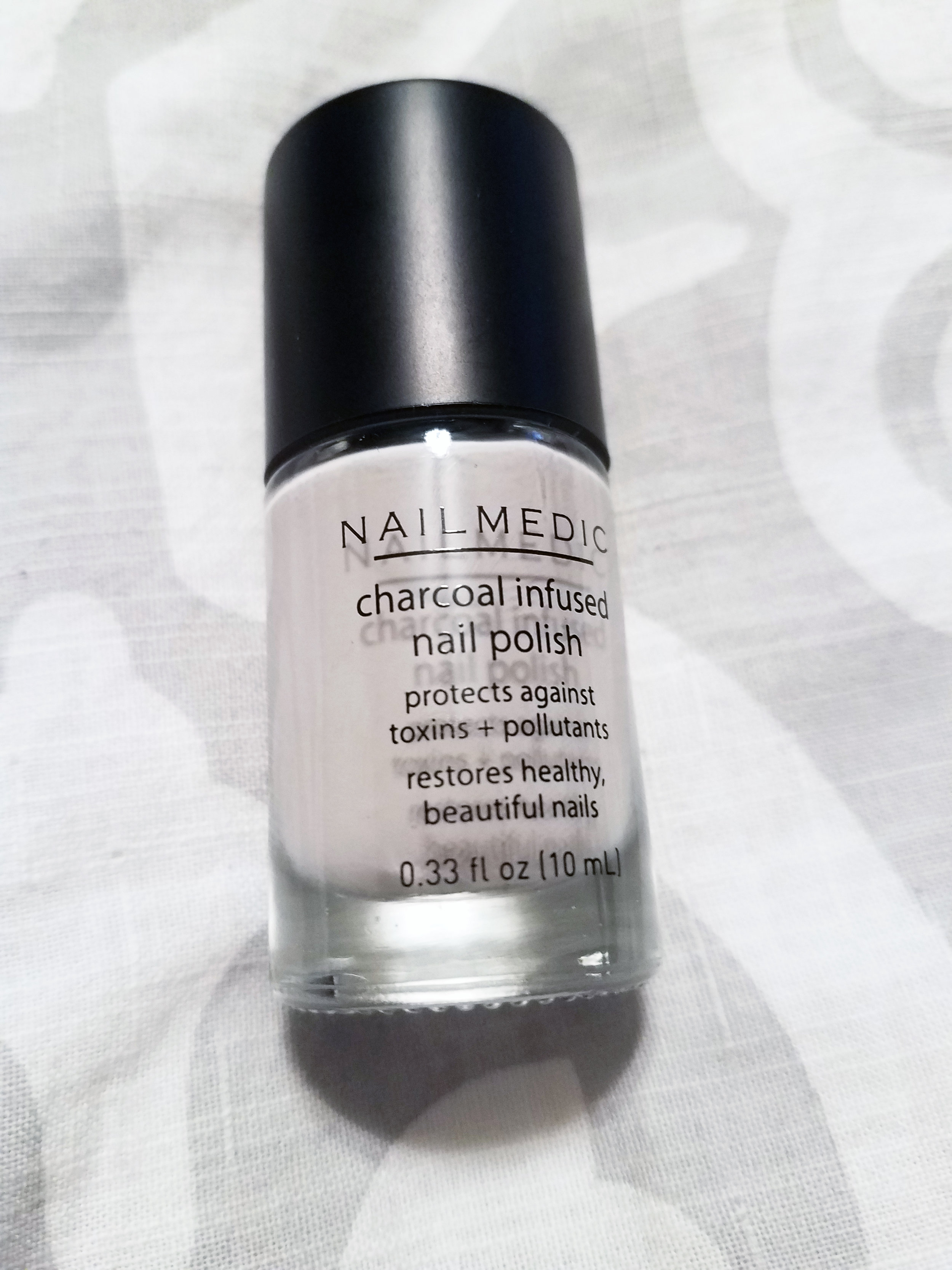 Nail Medic Charcoal Infused Nail Polish in Lava or Volcanic Ash