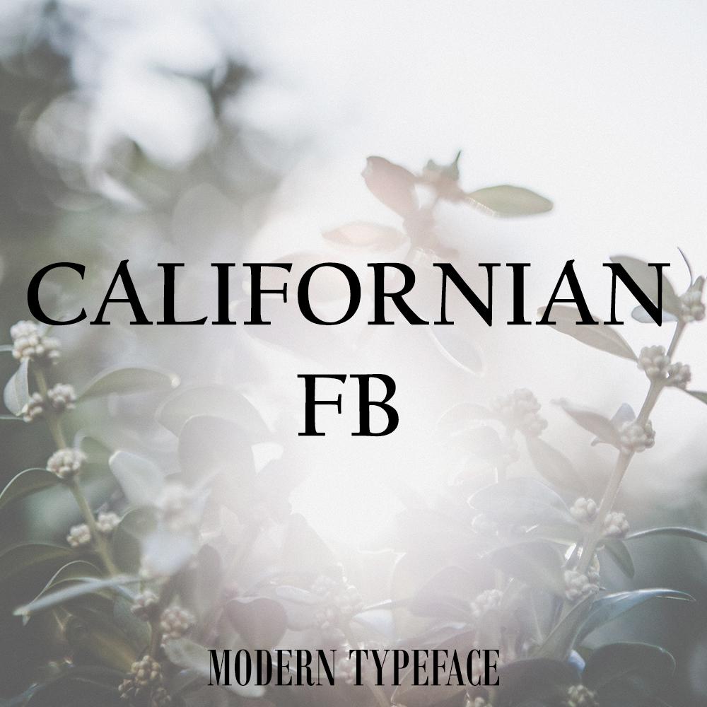 californian-font