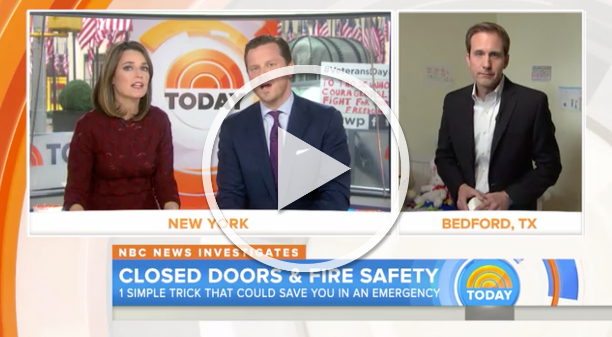 """The Today Show """"November 11th, 2015 – New research: To stay alive in a deadly fire, close your door"""""""