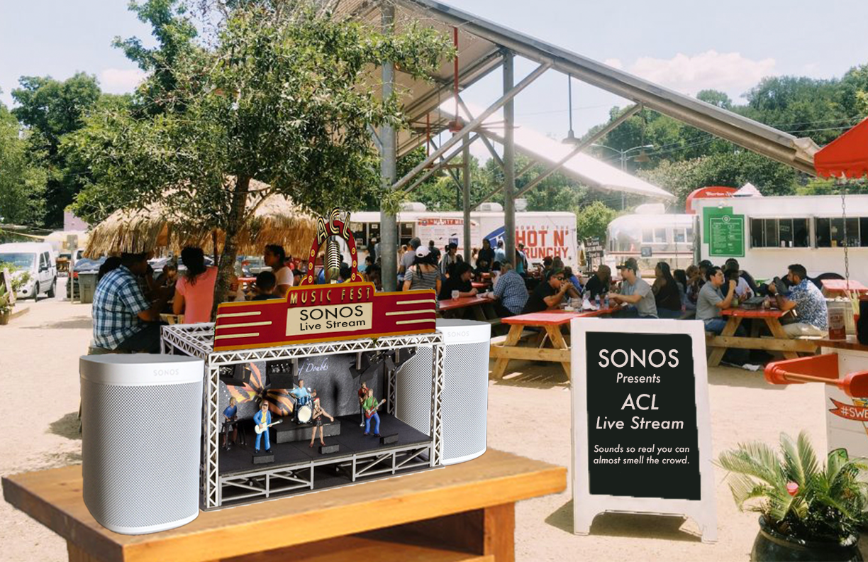 Sonos Stage outside of ACL Festival in Austin, TX.