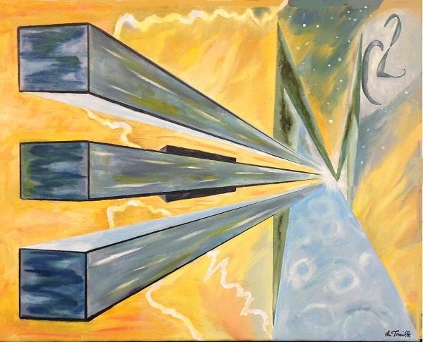 E=MC2 - Oil on Canvas by Greg La Traille. 2014.