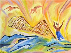 Filets a Midi - Oil on Canvas by Greg La Traille. 1989.