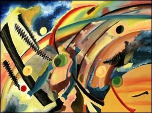 Hommage a Kandinsky - Oil on Canvas by Greg La Traille. 1995.