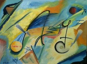 La theorie et la speculation - Oil on Canvas by Greg La Traille. 2014.