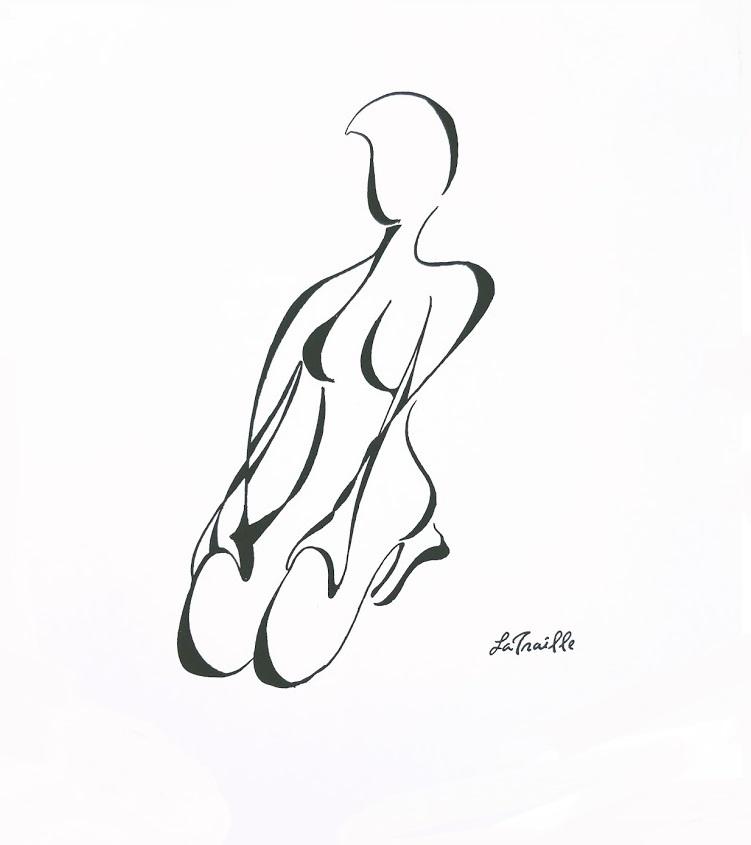 Resting Dancer - Ink on Paper. 2010.