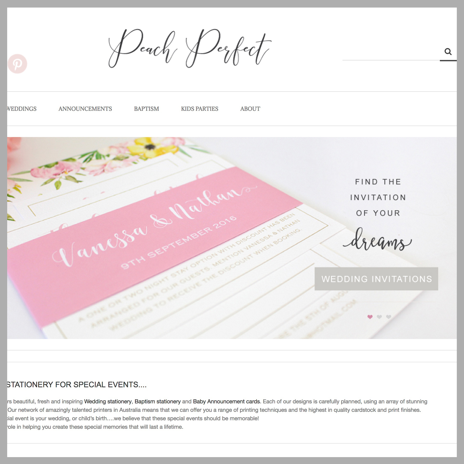 Peach Perfect Stationary