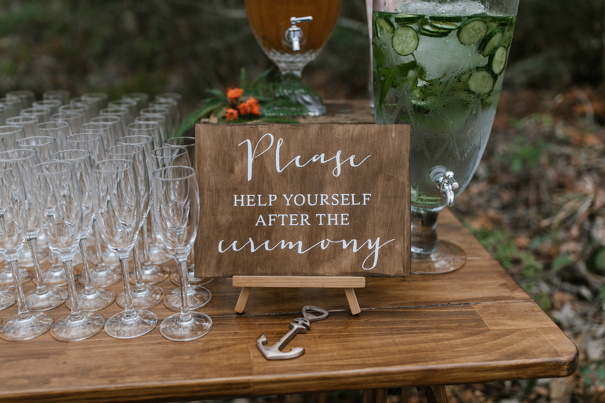 Northern Beaches wedding drinks station