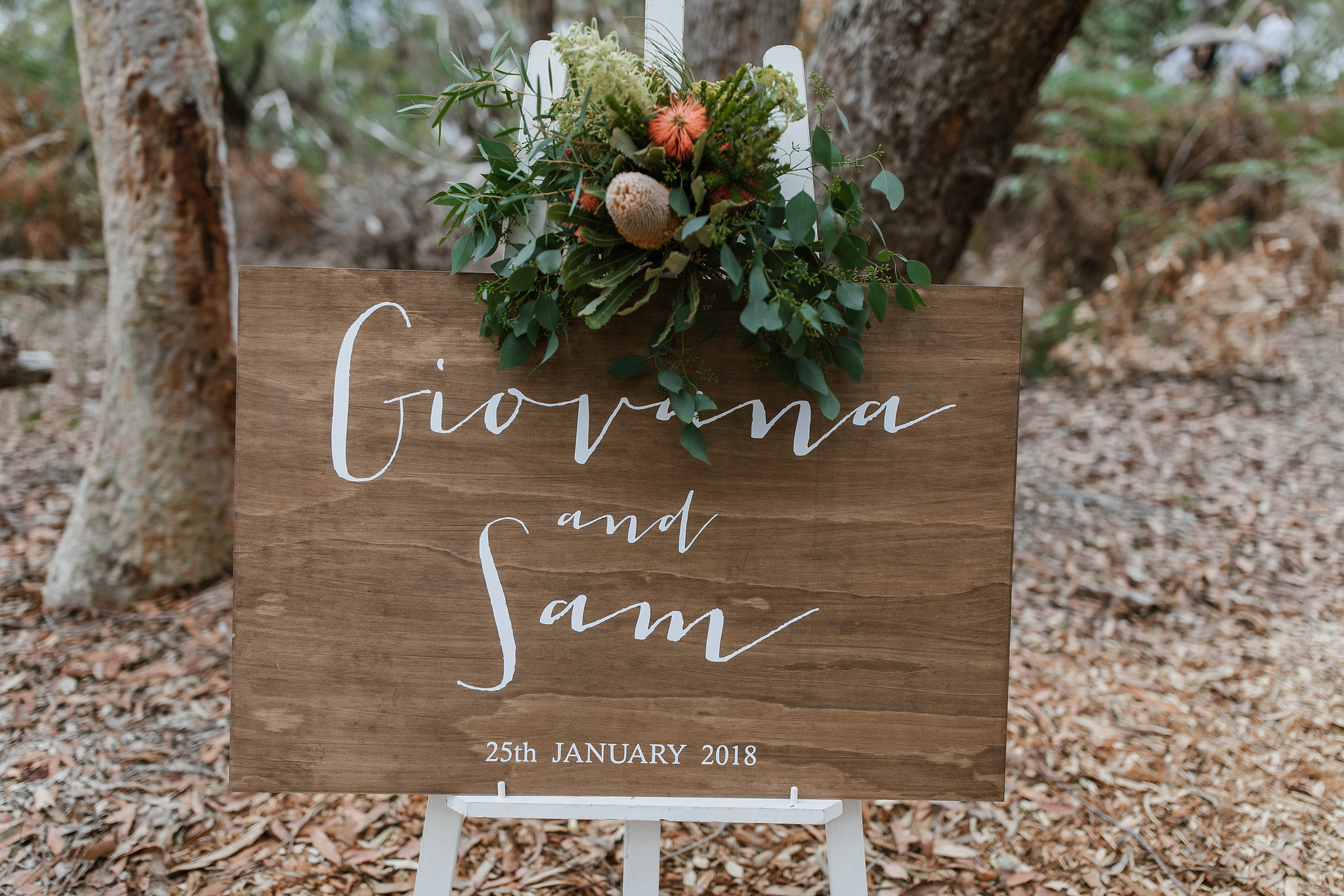 Northern Beaches wedding signage