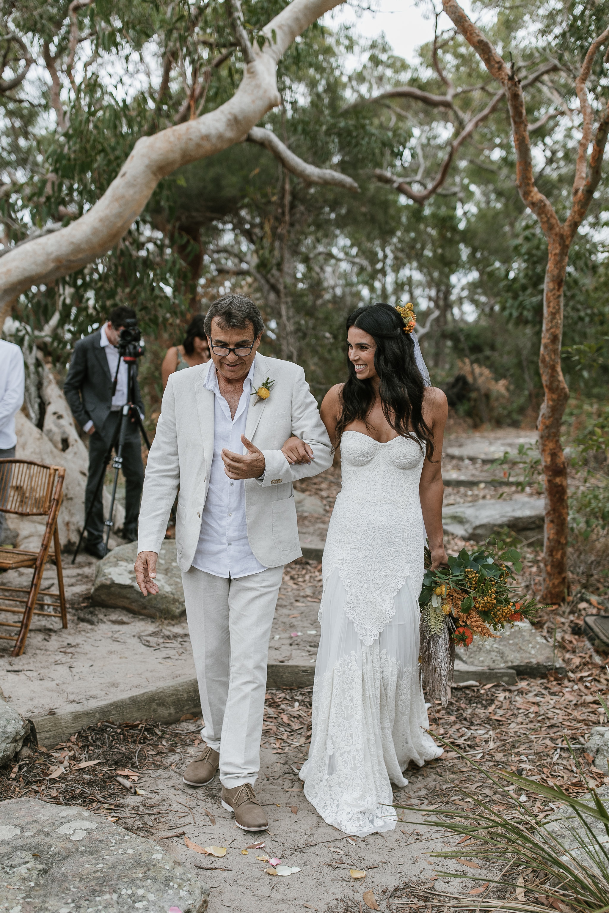 Northern Beaches wedding ceremony styling