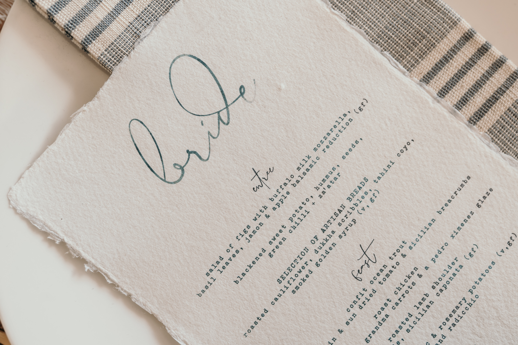 Copy of Bespoke Wedding Stationery
